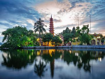 Reise Vietnam: Tran Quoc Pagode
