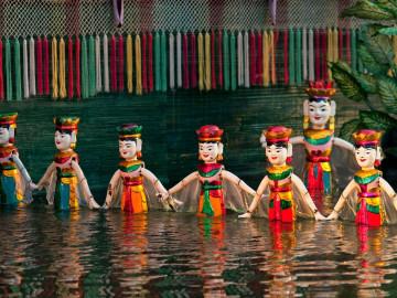 Reise Vietnam: Wasserpuppentheater Vietnam
