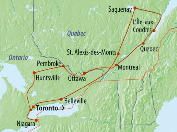 Kanada Rundreise - Reiseroute