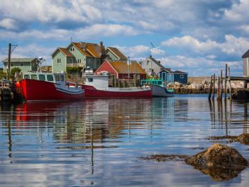 Kanada Reise: Fischerboote Peggys Cove