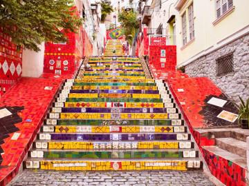 Brasilien Rio de Janeiro Treppe