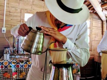 Kolumbien Reise Besuch einer Kaffee Finca