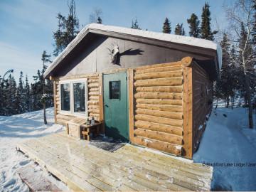 Kanadas Wildnisresort: Kleine Blockhütte