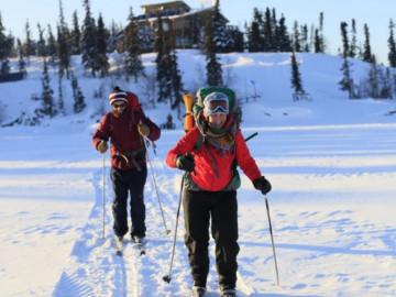 Kanadas Wildnis: Skifahren im Wildnis Resort