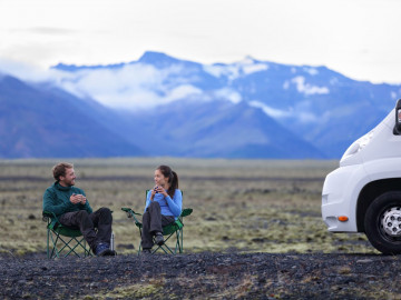 Camping Paar Berge