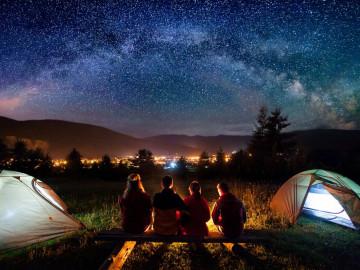 Sternenhimmel Camping-Reise