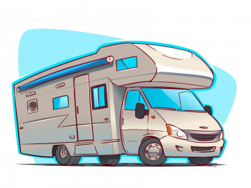 Wohnmobil-Reise: Sketch