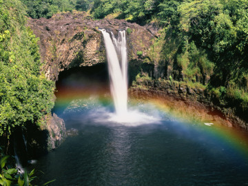 Hawaii Reise Wasserfall