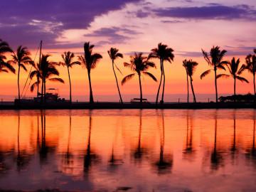 Hawaii Reise Sonnenuntergang