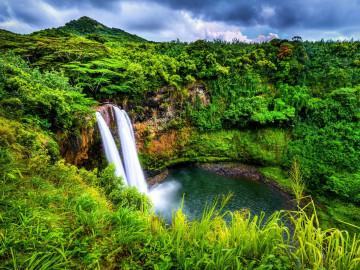 Reise Hawaii Wasserfall
