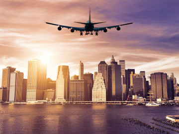 New York Reise Flug