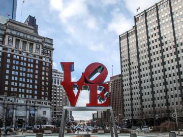 USA Reise: Love Sign Philadelphia