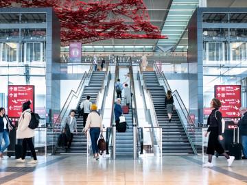 Berliner Flughafen Innenansicht; CC: BER