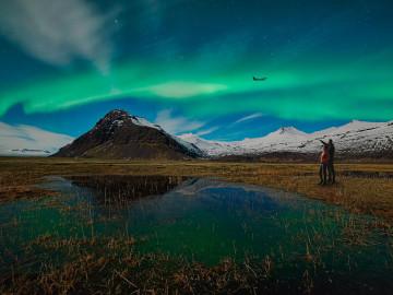 Nordlicht; CC: IcelandAir