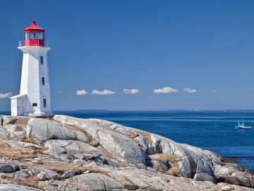 Kanada Peggys Cove Leuchtturm; CC: Nova Scotia
