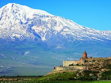 Armenien Blick auf Berg Ararat mit Chor Virap - Copyright Vizarm Travel