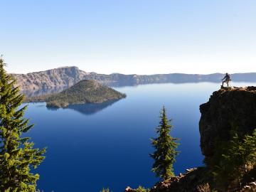 Blick auf den Crater Lake - Copyright Satoshi Eto