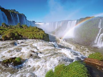 Blick auf die Iguacu Wasserfälle