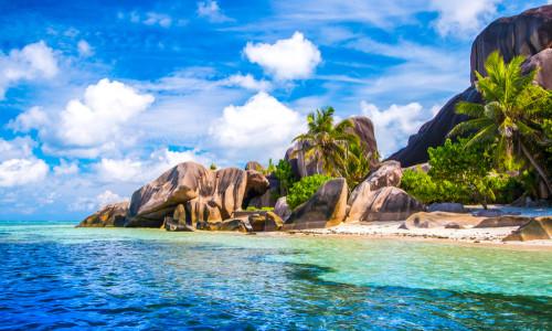 Seychellen Meer und Strand la digue
