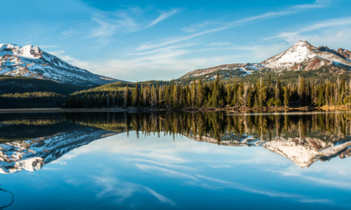 Oregon sisters broken top mountains in der Nähe von Bend