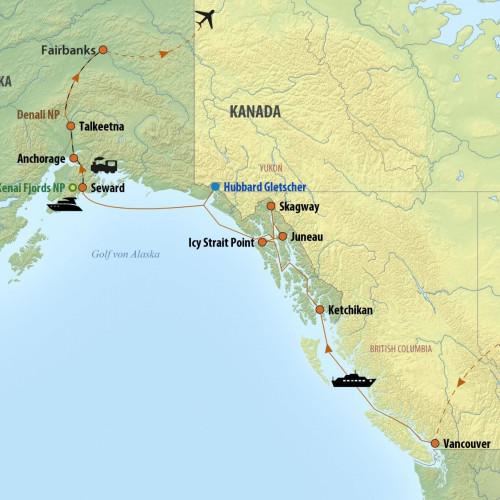 Golf Von Alaska Karte.Alaska Reise Abenteuer Alaska Im Land Der